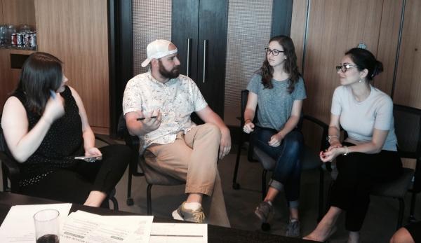 From left: Melissa Footlick, Conor Meegan, Erin Clark &Yuliya Messieha