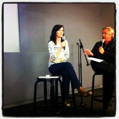 Interviewing Art Producer Jacqueline Fodor at APA Apple event. Photo credit: Rob Prideaux
