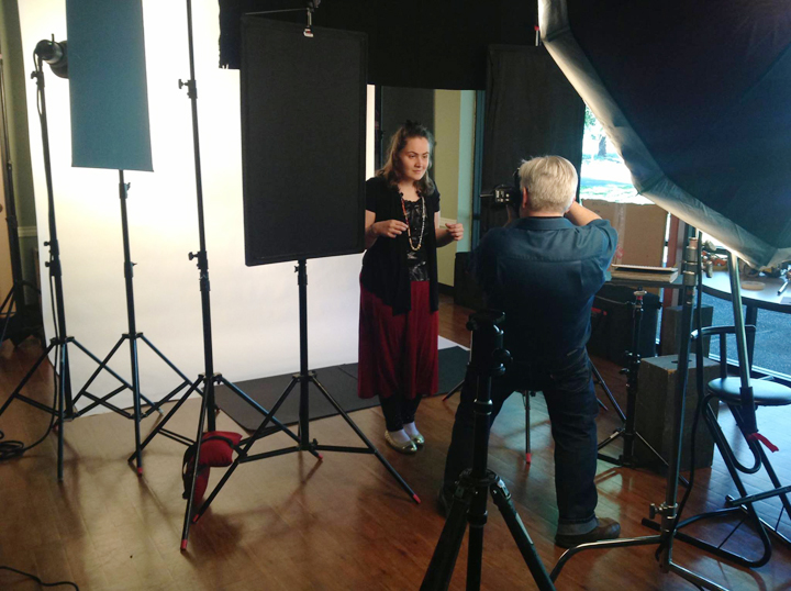 Christian photographing Gabby.
