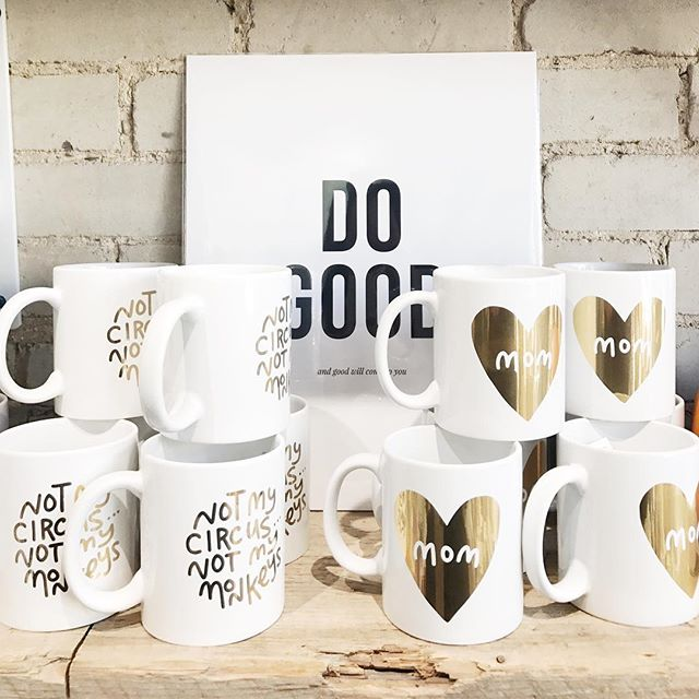 When seeing your designs / products in stores stops getting exciting, it's time to find a new gig. Thankfully I still get excited. Thanks @collected_joy for the great display of our @pennypaperco mugs!