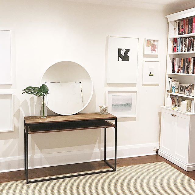 Whenever I walk by the living room I get giddy with happiness that a few simple switches (and no $!) have updated the room to feel more light $ modern. Still a fan of white walls. * * * * #livingroom #bhghome #myhouseandhome #decor #designblogger #whitewalls