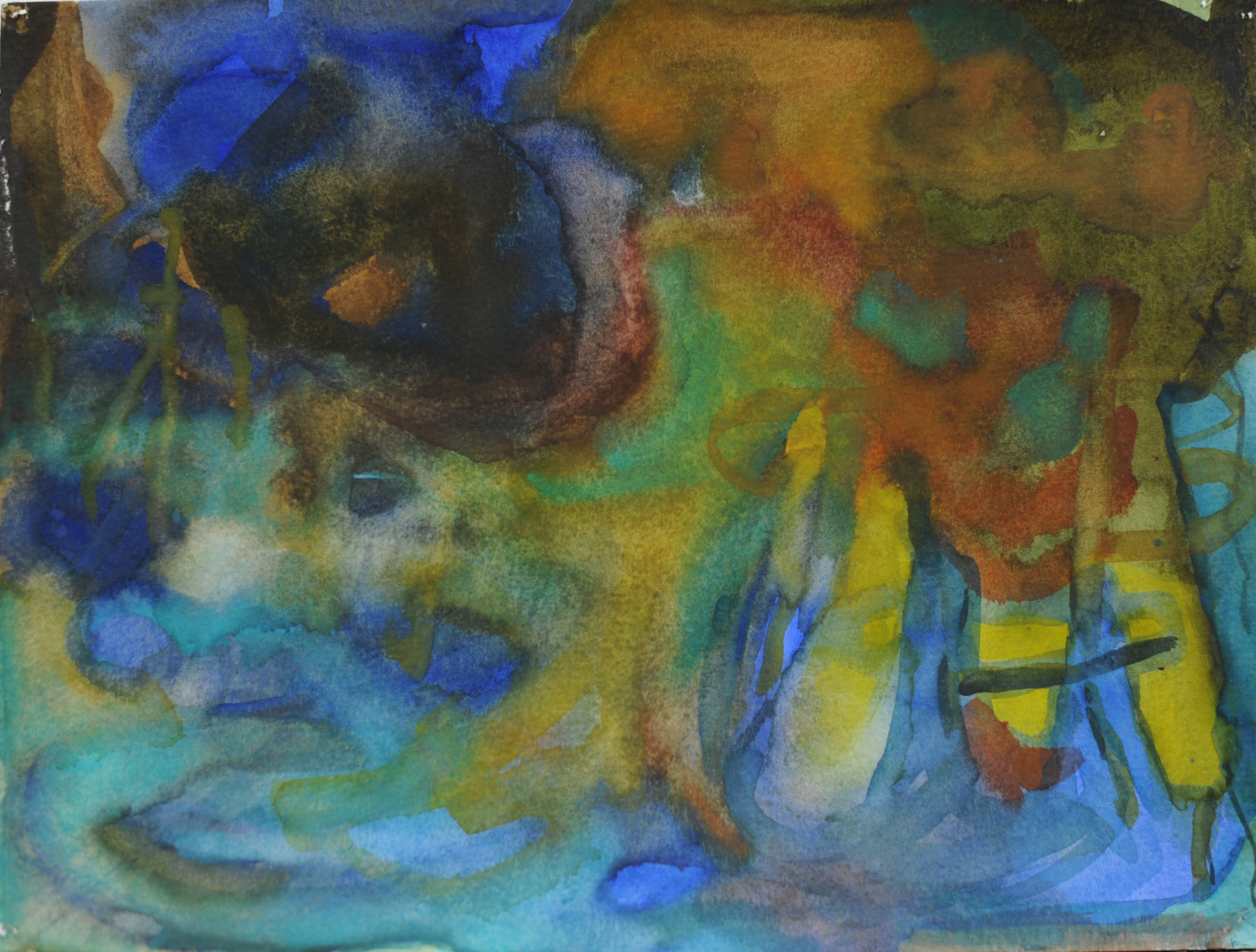 """Storm Reef  , 9"""" x 12"""", watercolor on paper, 2010"""