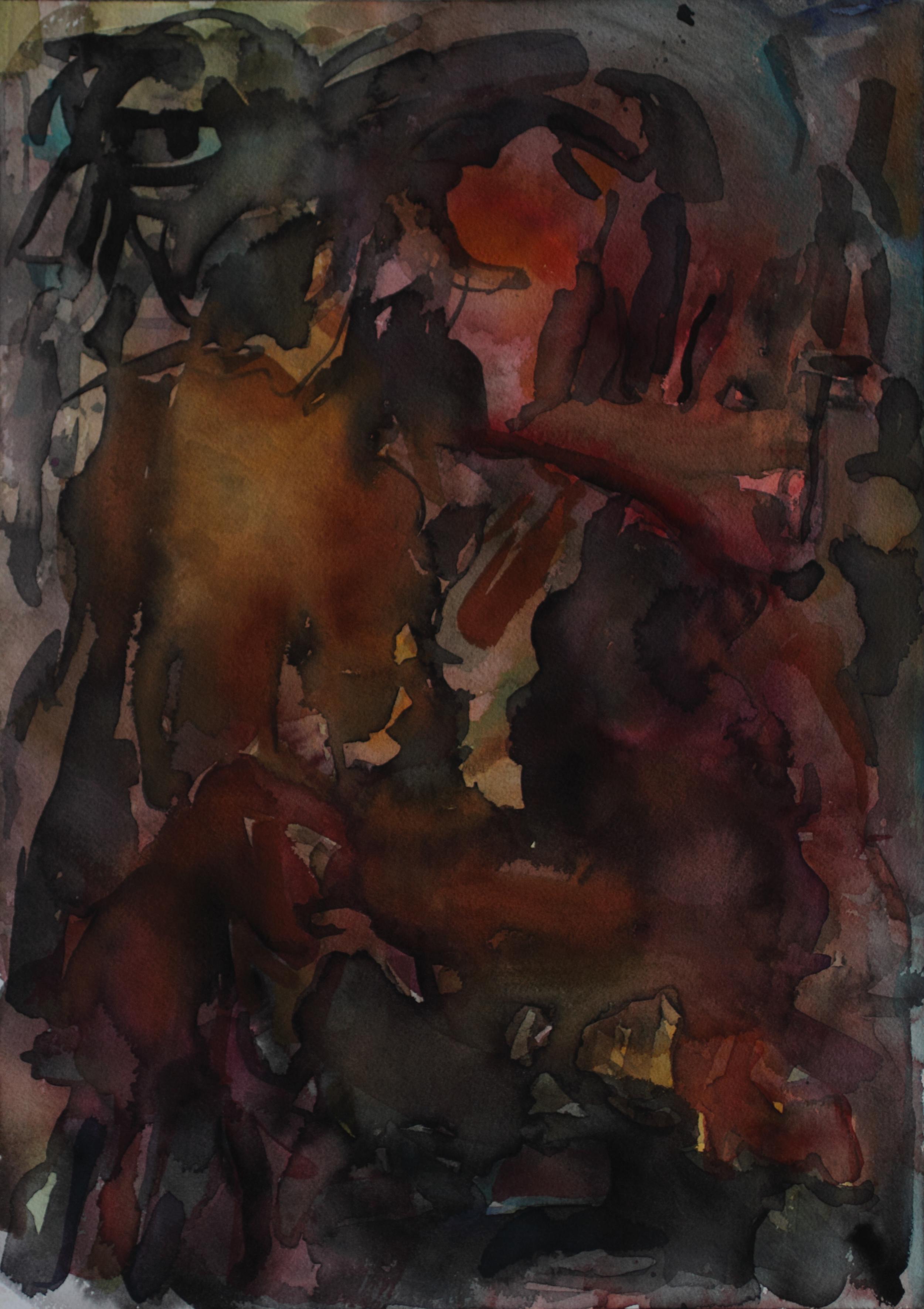"Death Metal ,  20"" x 14.125"", watercolor on paper, 2012"
