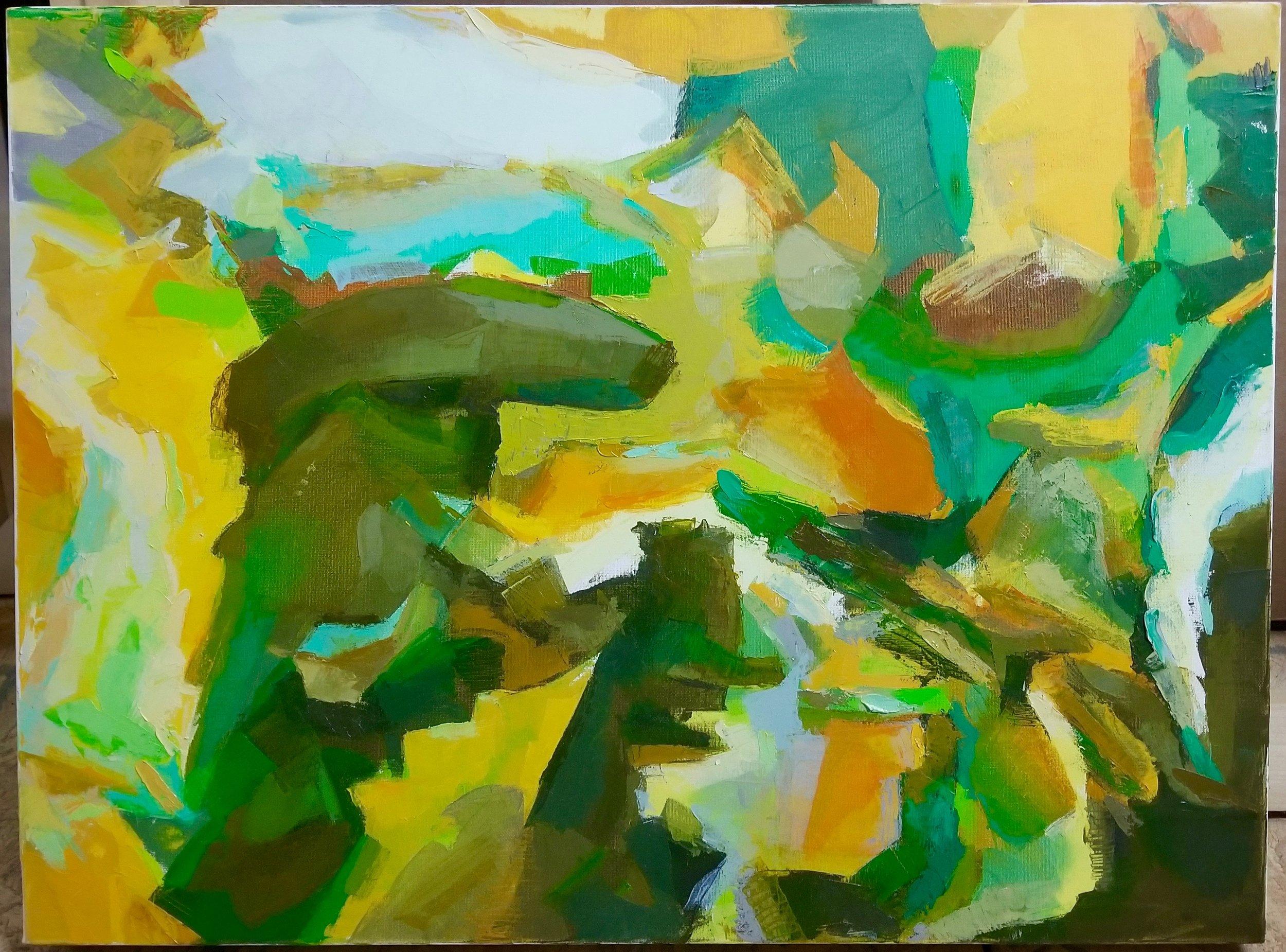 "Angel Destroyer  , 14"" x 16"", oil on polyester, 2013"