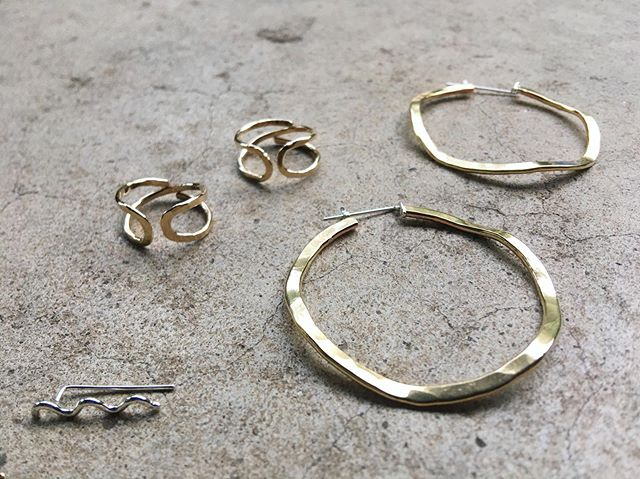 SOPHIA Hoops & SALT Rings ... part of an order for new Brooklyn stockist @onabrooklyn