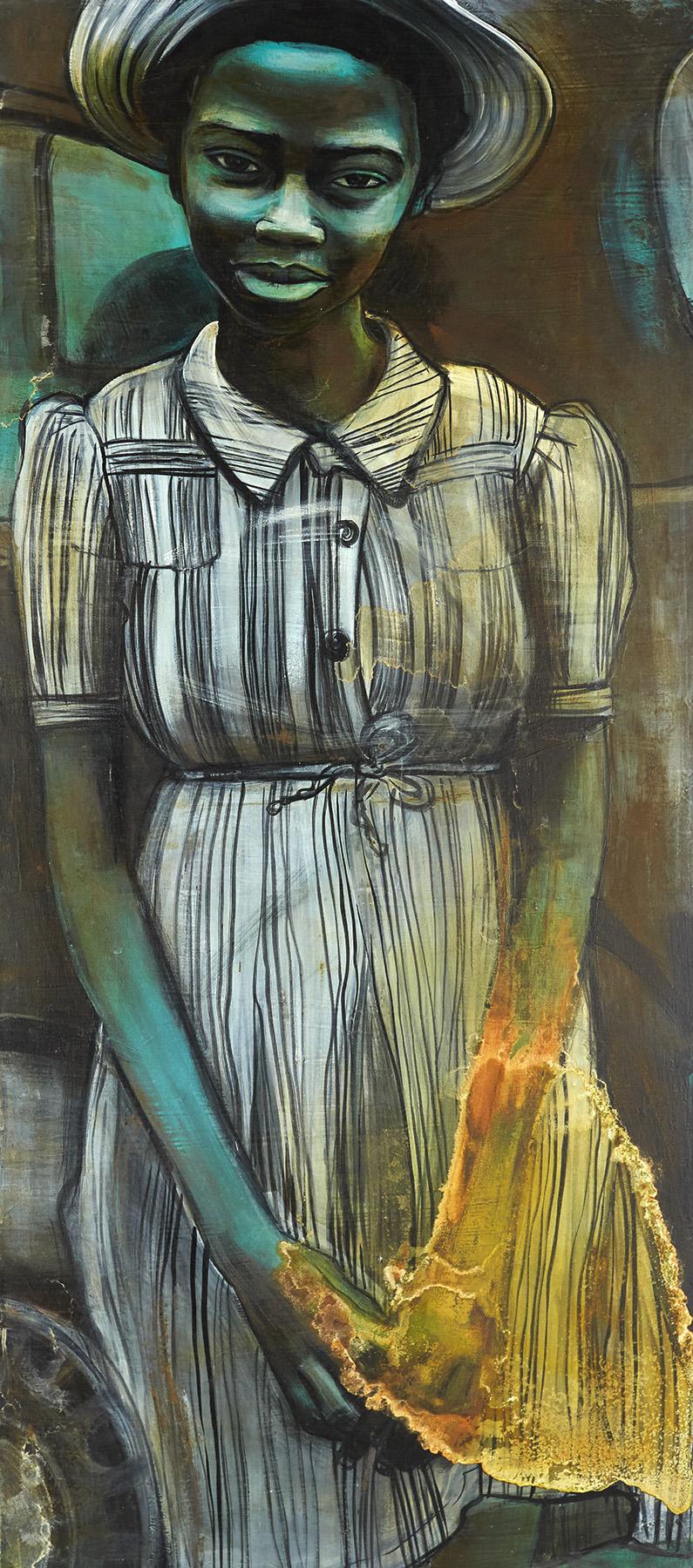 Girl in Striped Dress, 2014