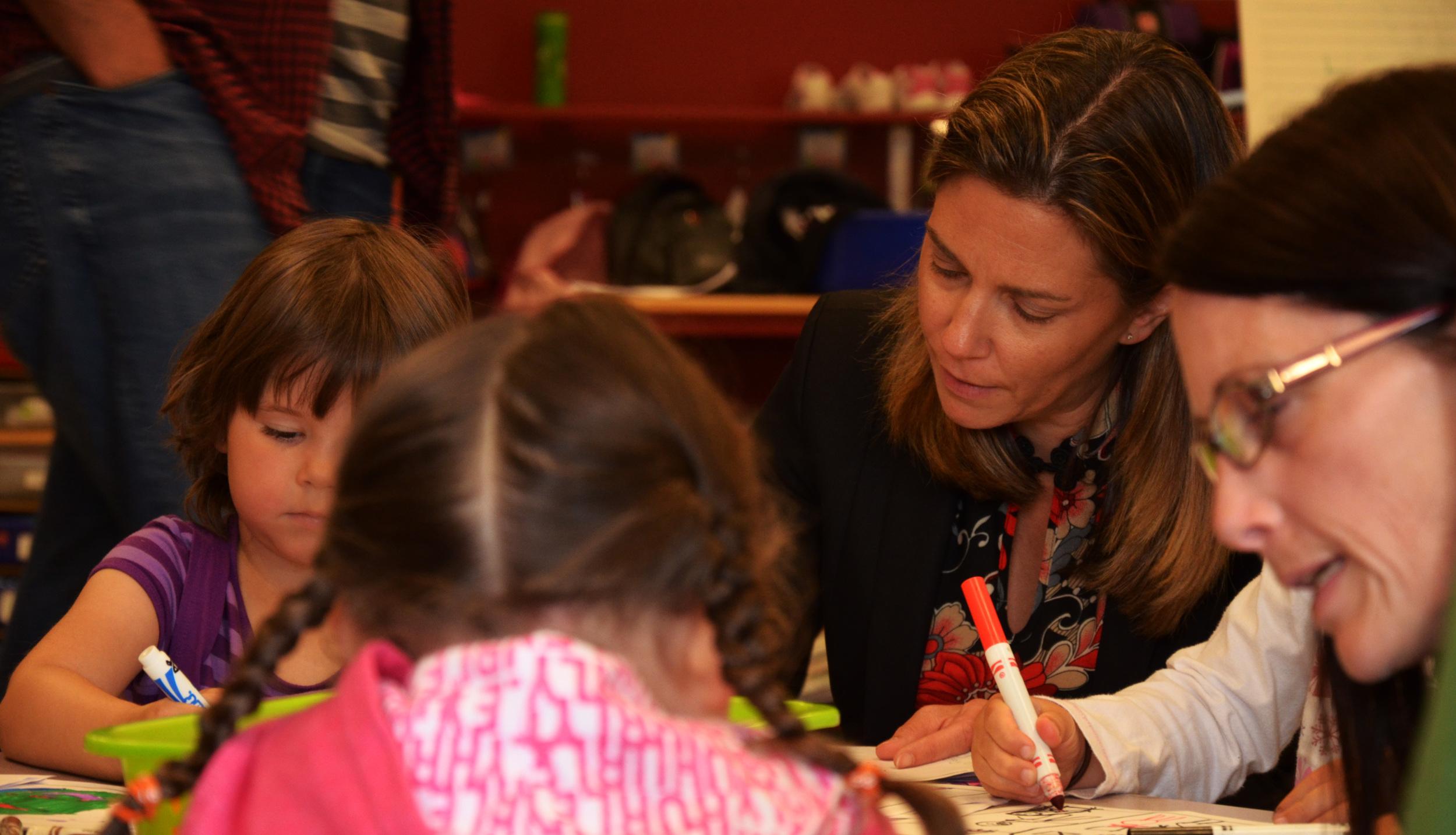 FriesenPress President Tammara Kennelly helping kids