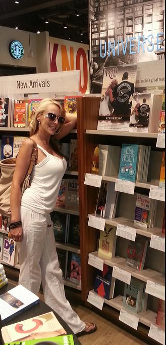 Kerri Krysko at Chapters Book Store with her book