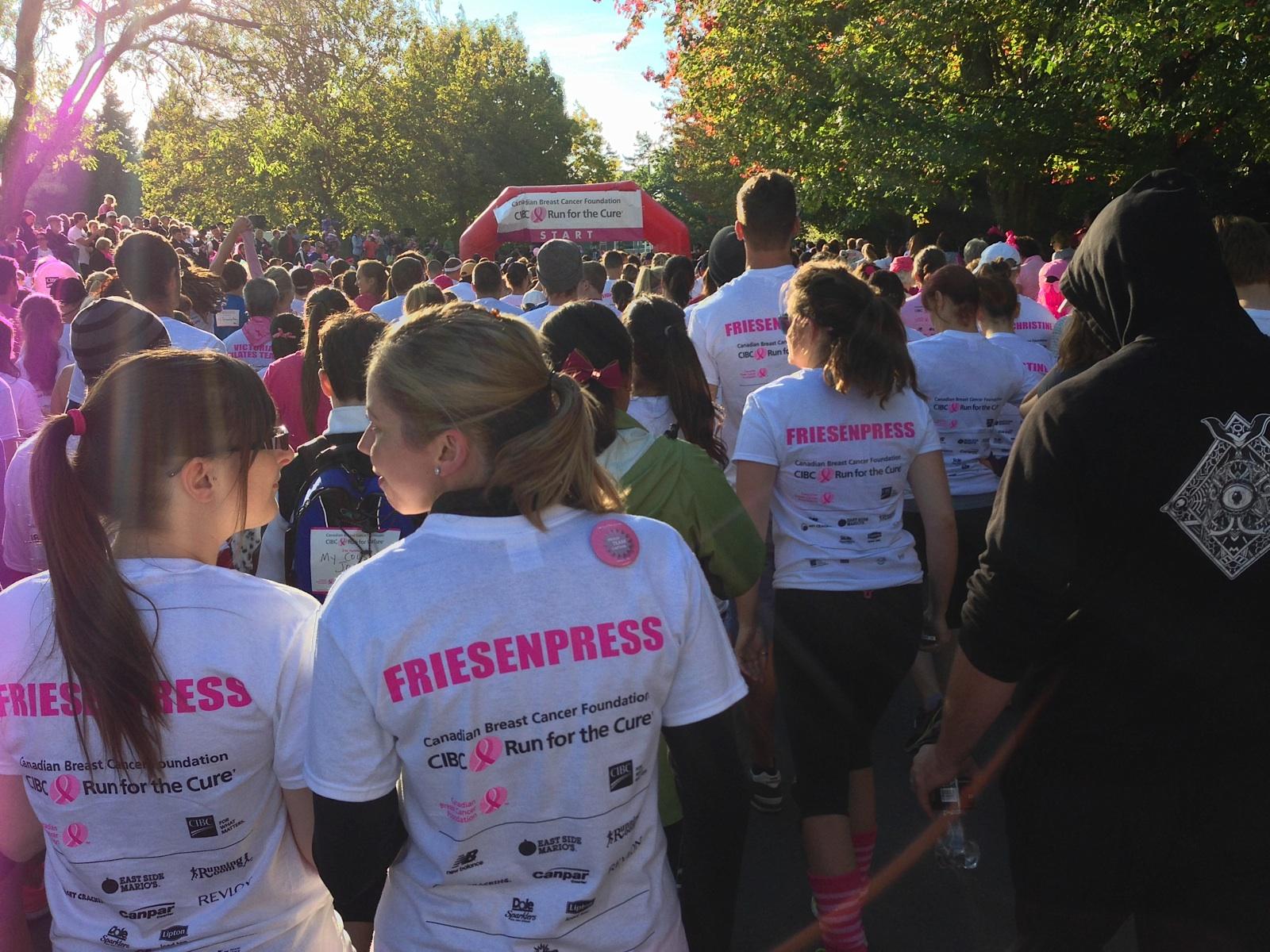 FriesenPress team running for cure.jpg