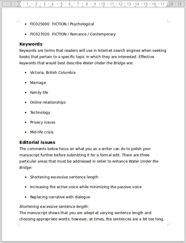 Editor's Manuscript Evaluation 5