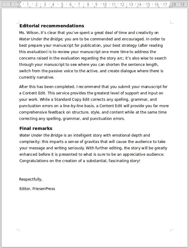 Editor's Manuscript Evaluation 8