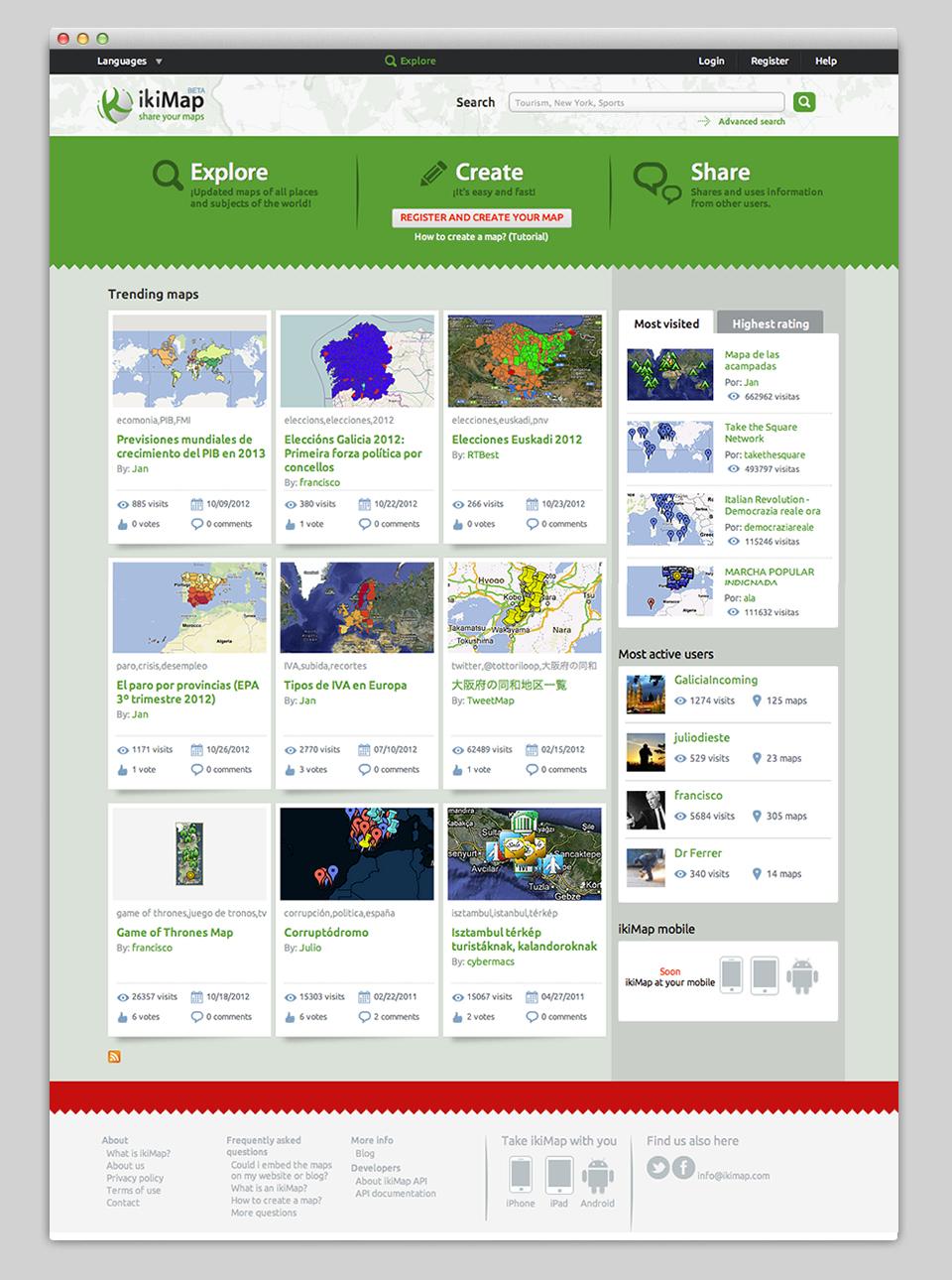 Se realiza un nuevo planteamiento de la portada, más interactivo, que invita a participar y compartir.