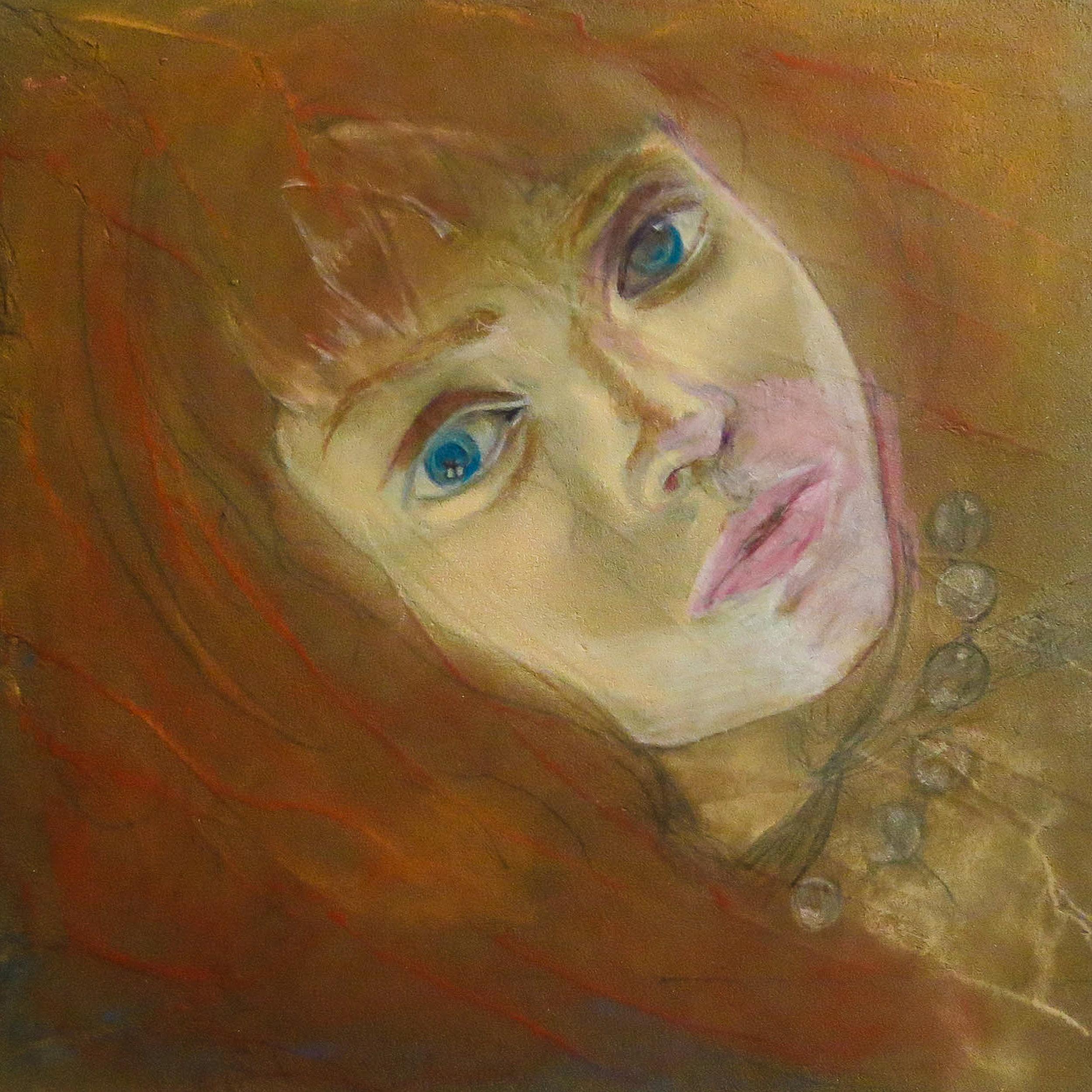Blue eyes & orange hair