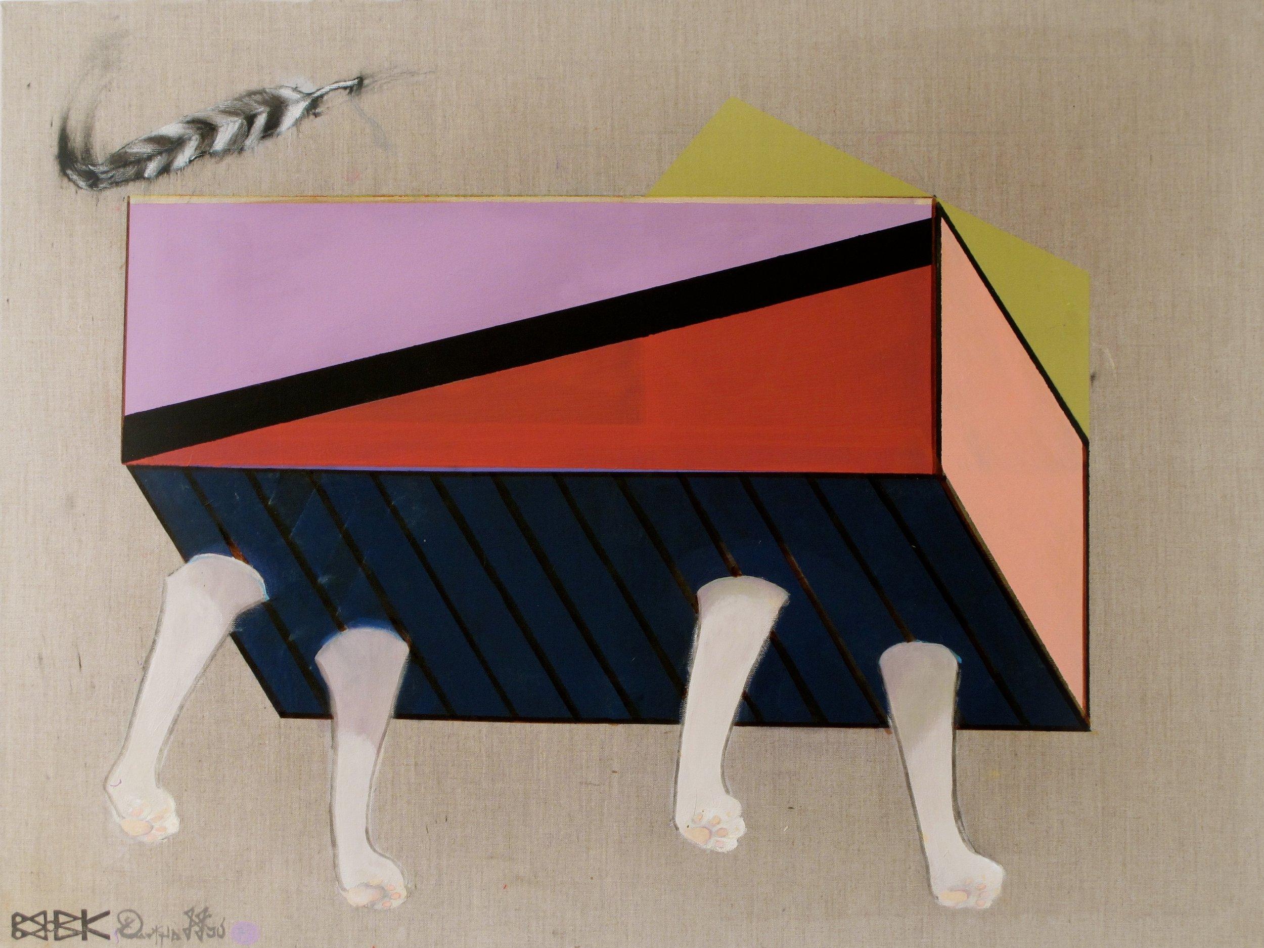 Boxed cat , 2011