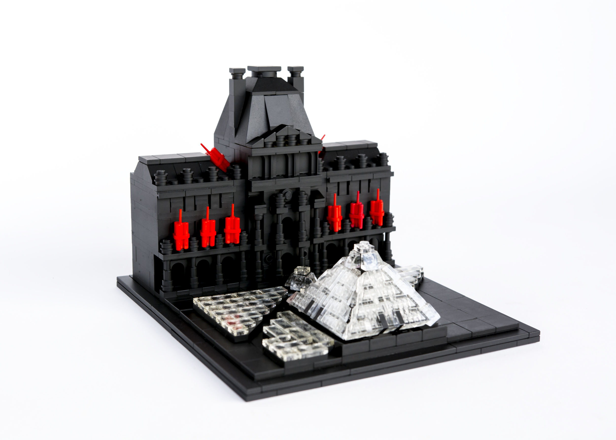 """Anti-Monuments for Counter Histories (03/29/1998) , painted lego pieces and plastic dynamite,5"""" (13cm) tall, 6"""" (17cm) wide and 7"""" (19cm) deep,2015"""