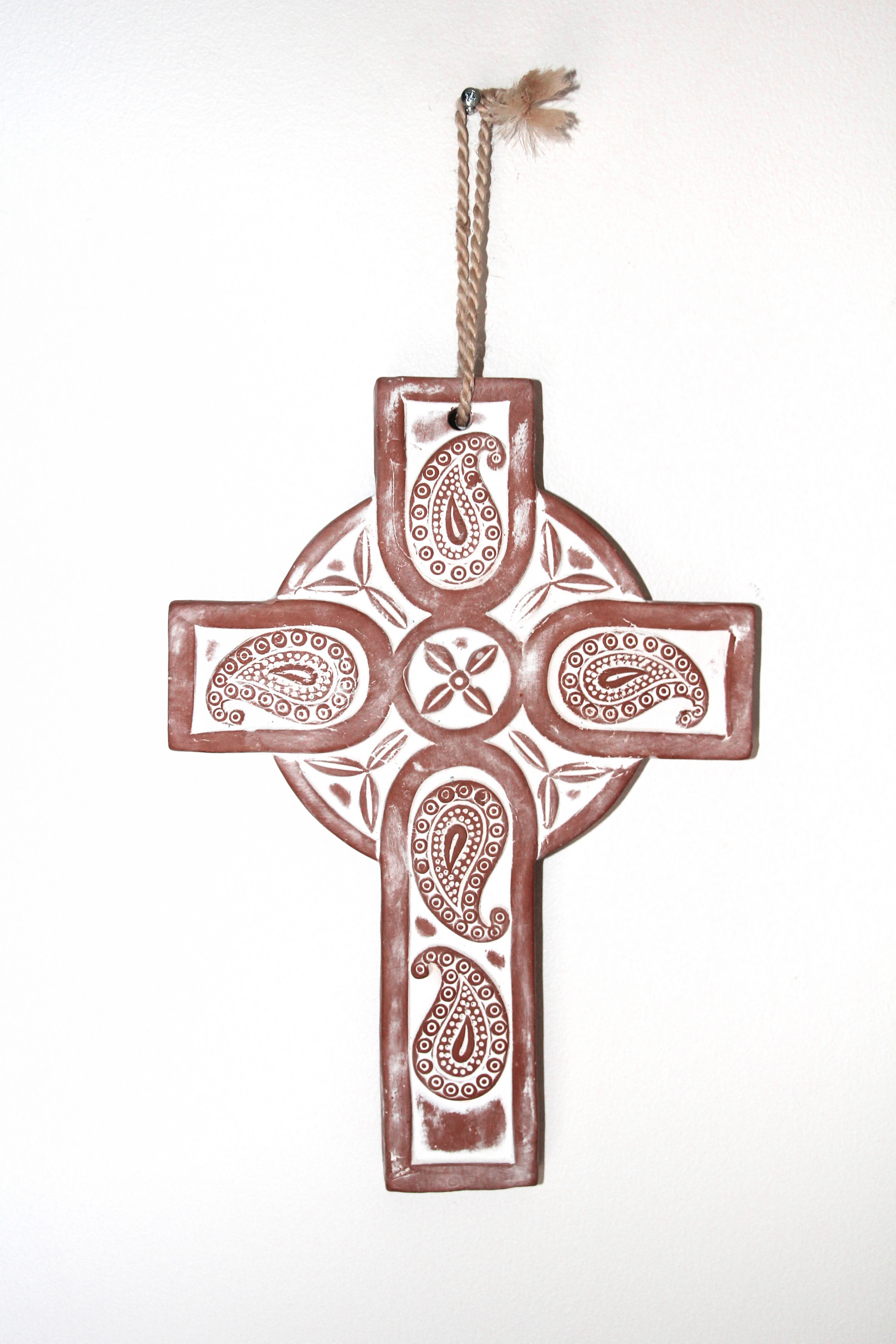 Fair trade cross, handmade in Argentina