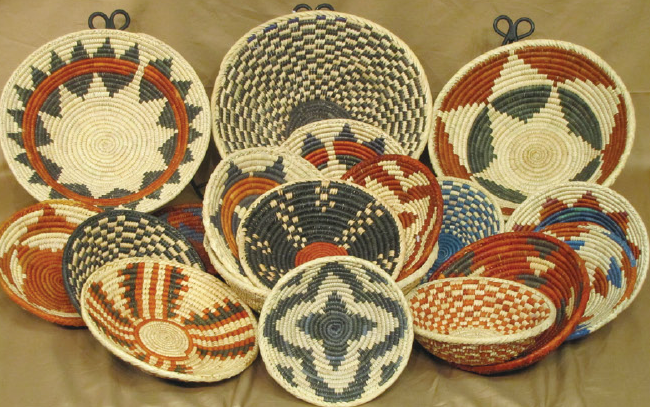 Handmade American Indian baskets