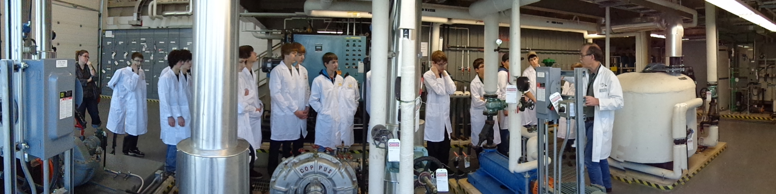 Praxis' Operation Thoth Conference participants view the Power Engineering facilities at Medicine Hat College.