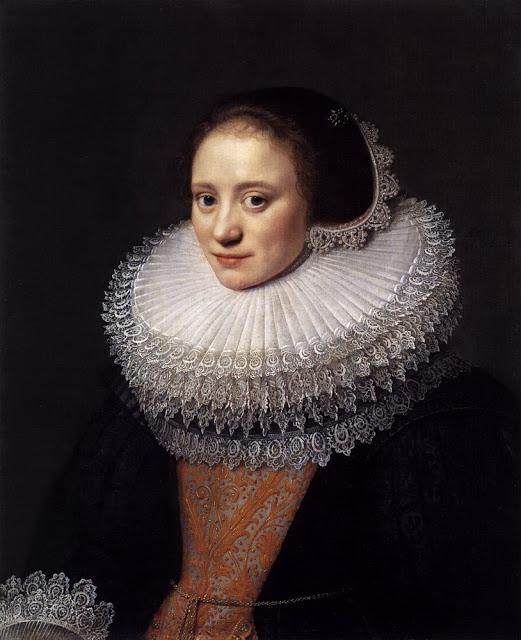 """""""Portrait of a Woman"""" (1628) by Michiel Jansz van Miereveldt"""