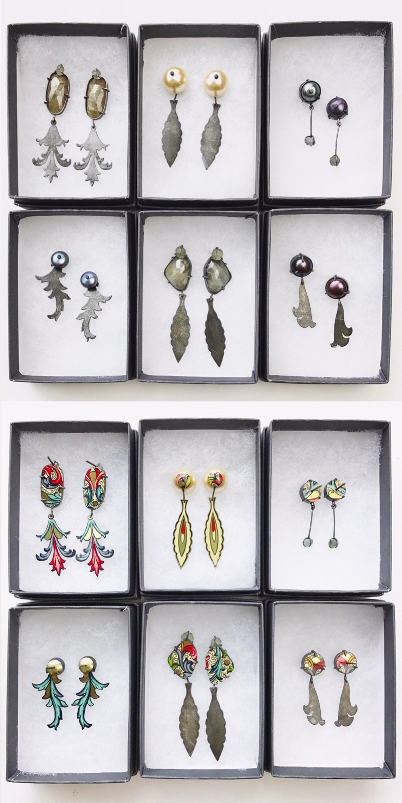 Florentine Earring Series, 2017