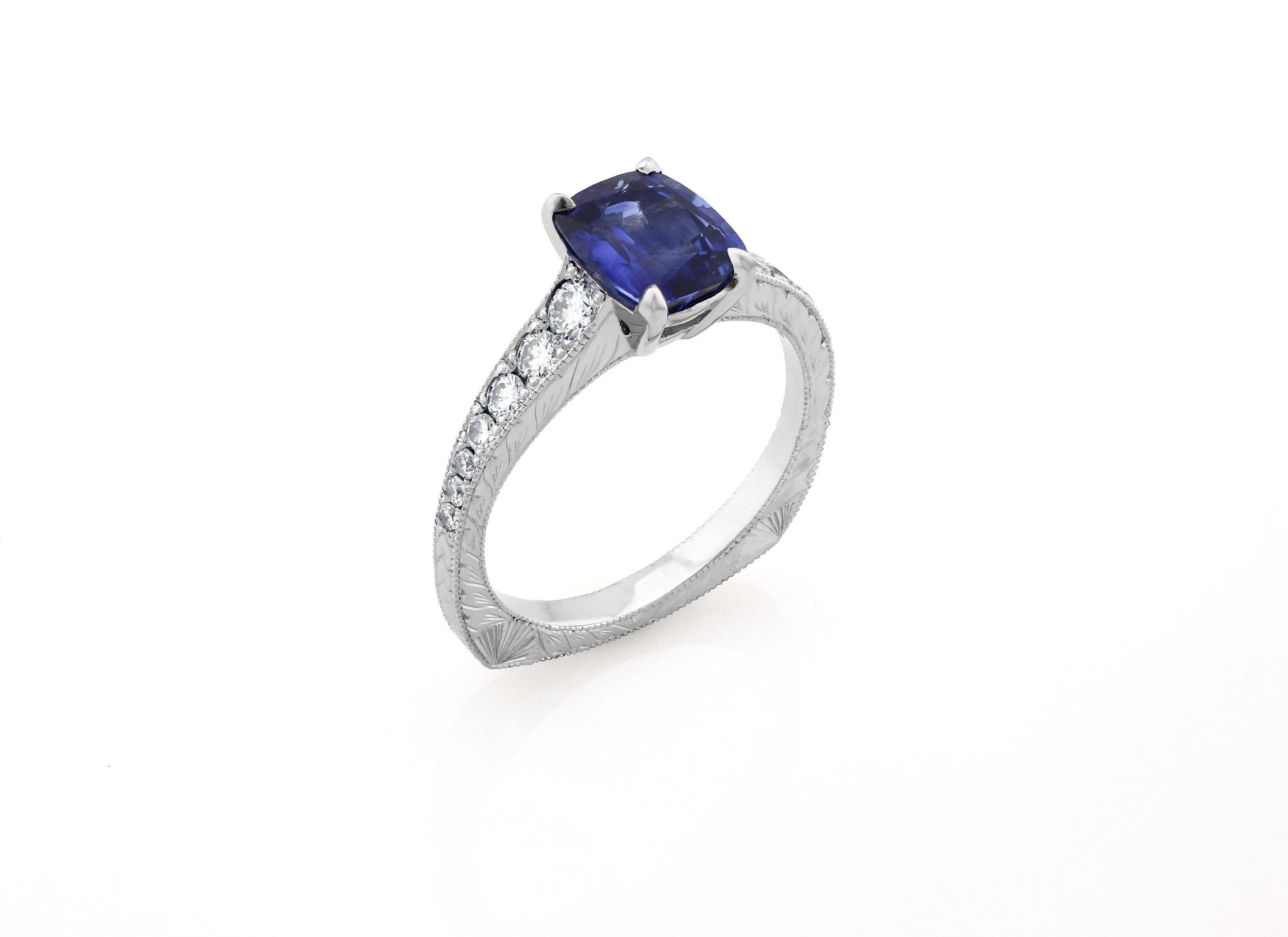 Custom Sapphire Ring, 2018