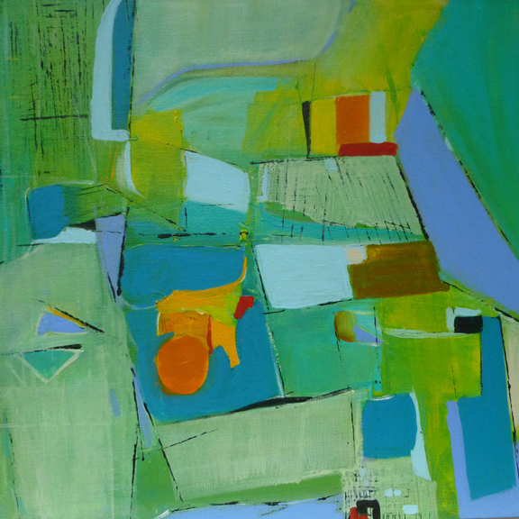 #7 Mary Chang  Urban Plains#1  Acrylic on canvas 18 x 18 in 2010