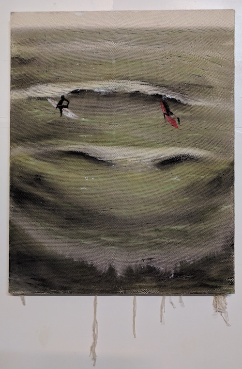 #12 Nicholas Cueva  Bard  Acrylic on fabric 24 x 30 in 2018