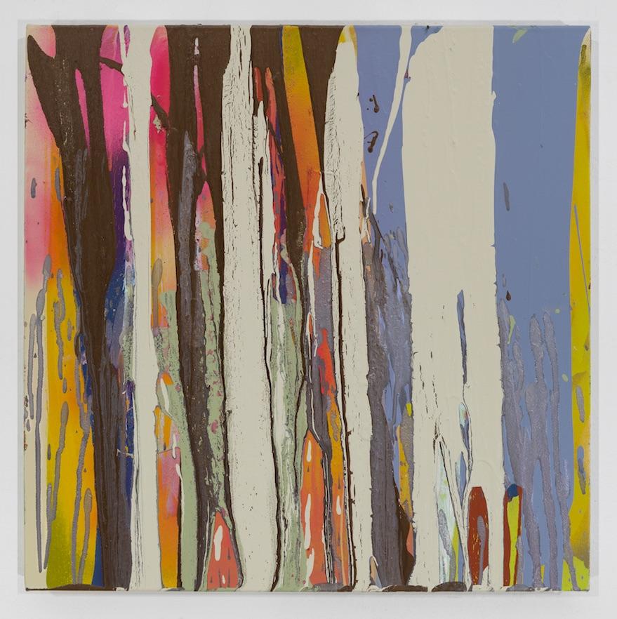 #19 Michael Filan  Beyond  Enamel On Canvas 18 x 18 in 2017