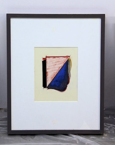 #27 Carl E. Hazlewood  Untitled  Mixed-media with collage on paper  16 x 20 in framed 2018