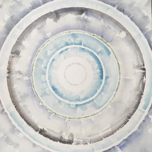 #31 Julian Jackson  Little Planet  Watercolor on paper 12 x 12 in Framed 2019