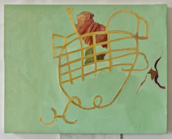 #34 Dieter Kuhn  Between the Worlds, as in: Migration  Oil on canvas 20 x 16 inches 2013