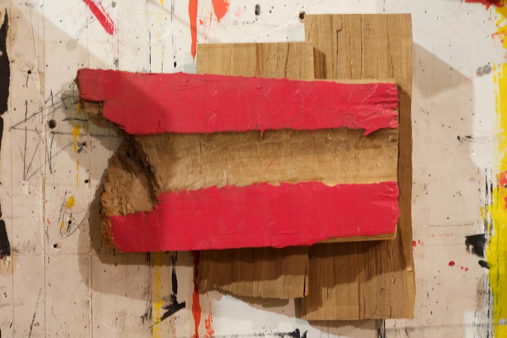 "#42 Richard Nonas  Untitled   Oilpaint on wood  7.5"" high x 8"" wide x 2"" deep 2018"