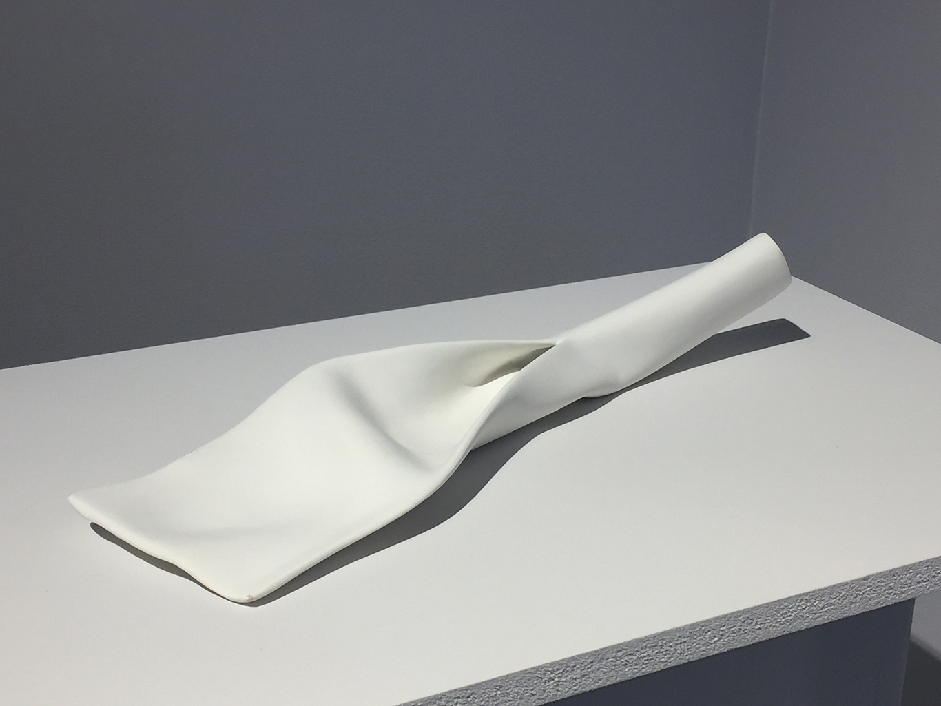 #49 A.V. Ryan  zwischen  rubber, paper, glue, joint compound 12 x 3 x 2 in 2016