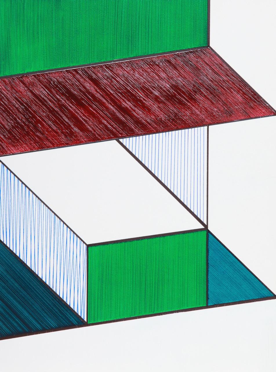 #52 Lorenza Sannai  Adiectum  Acrylic, permanent marker on panel. 12x9x3/4 in 2015