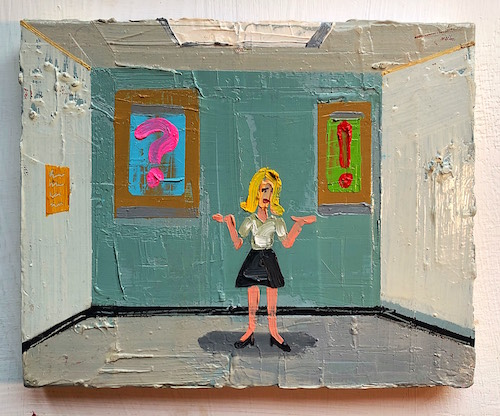 #58 Nathaniel Synge Murray  Punctuation  Oil on canvas 8.5 x 11 in 2015