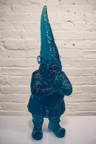 #62 Sam Tufnell  Untitled (Small Blue Gnome)  resin 19.5 x 6 x 6 in 2018