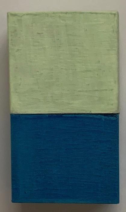 #69 Robert Yasuda  Untitled  Acrylic on fabric on wood 4.25 x 2.5 in  2019