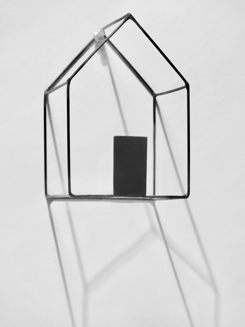 #82 Gunnar Theel  Haus (#57)  Wire, painted 6 1/2 x 4 1/4 x 4 1/2 in 2018