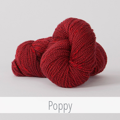 The Simple Beret features yarns by The FibreCompany, includingAcadia. How about this beautiful shade called Poppy?
