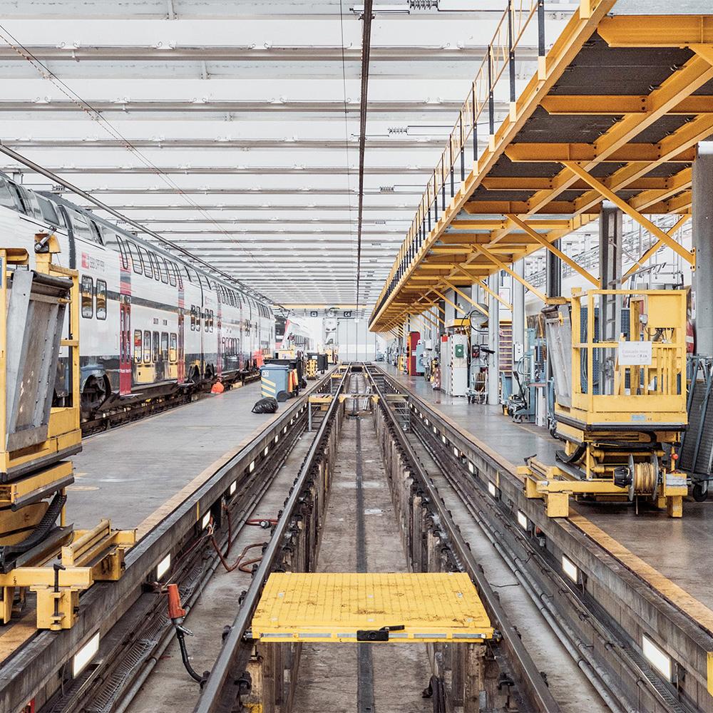 SBB CFF Swiss trains maintenance facility visit in Geneva  2015
