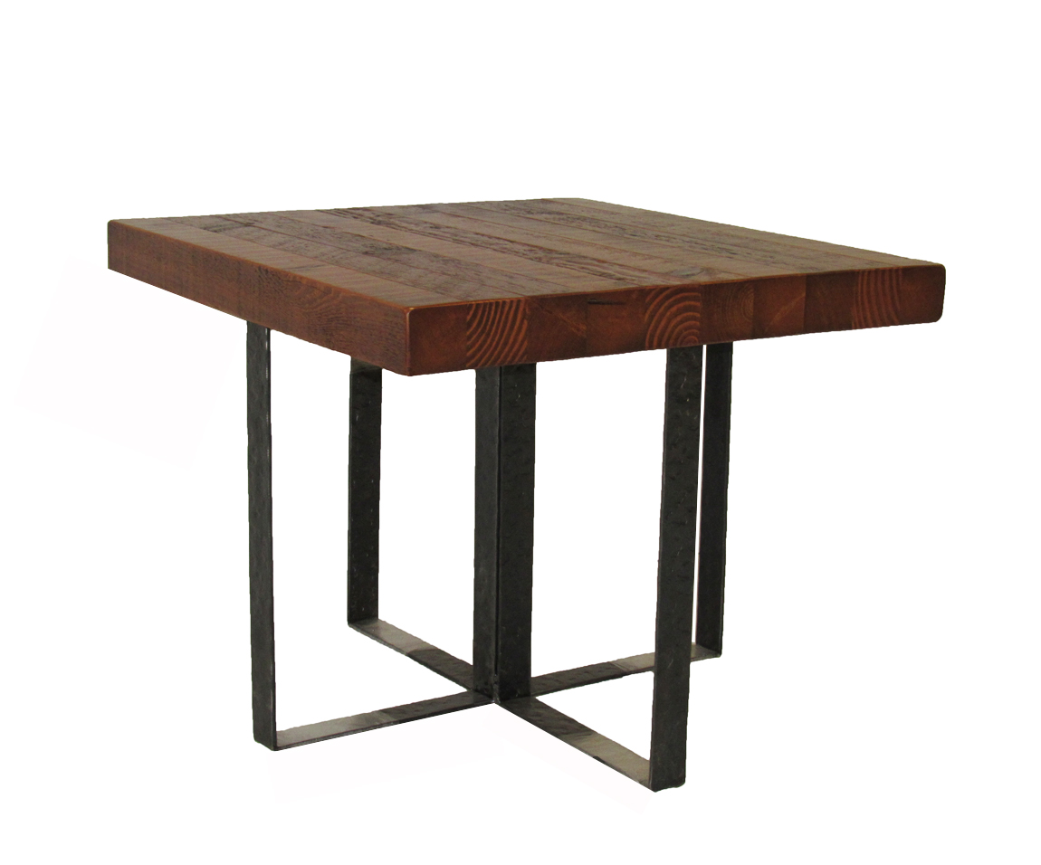 RRW-CUSTOM TRON & BARNWOOD END TABLE IRON BASE & 3'' THICK TOP 30WX30DX24H.JPG