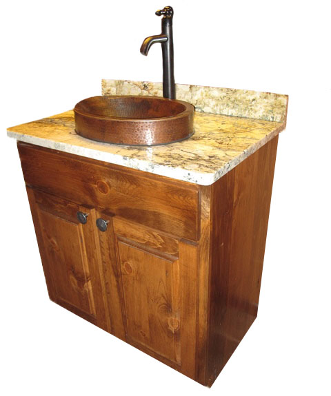 RRW-FIXTURE3 RUSTIC PINE VANITY WITH ENGLISH CHESTNUT STAIN 32WX21DX35H PIC 3.JPG