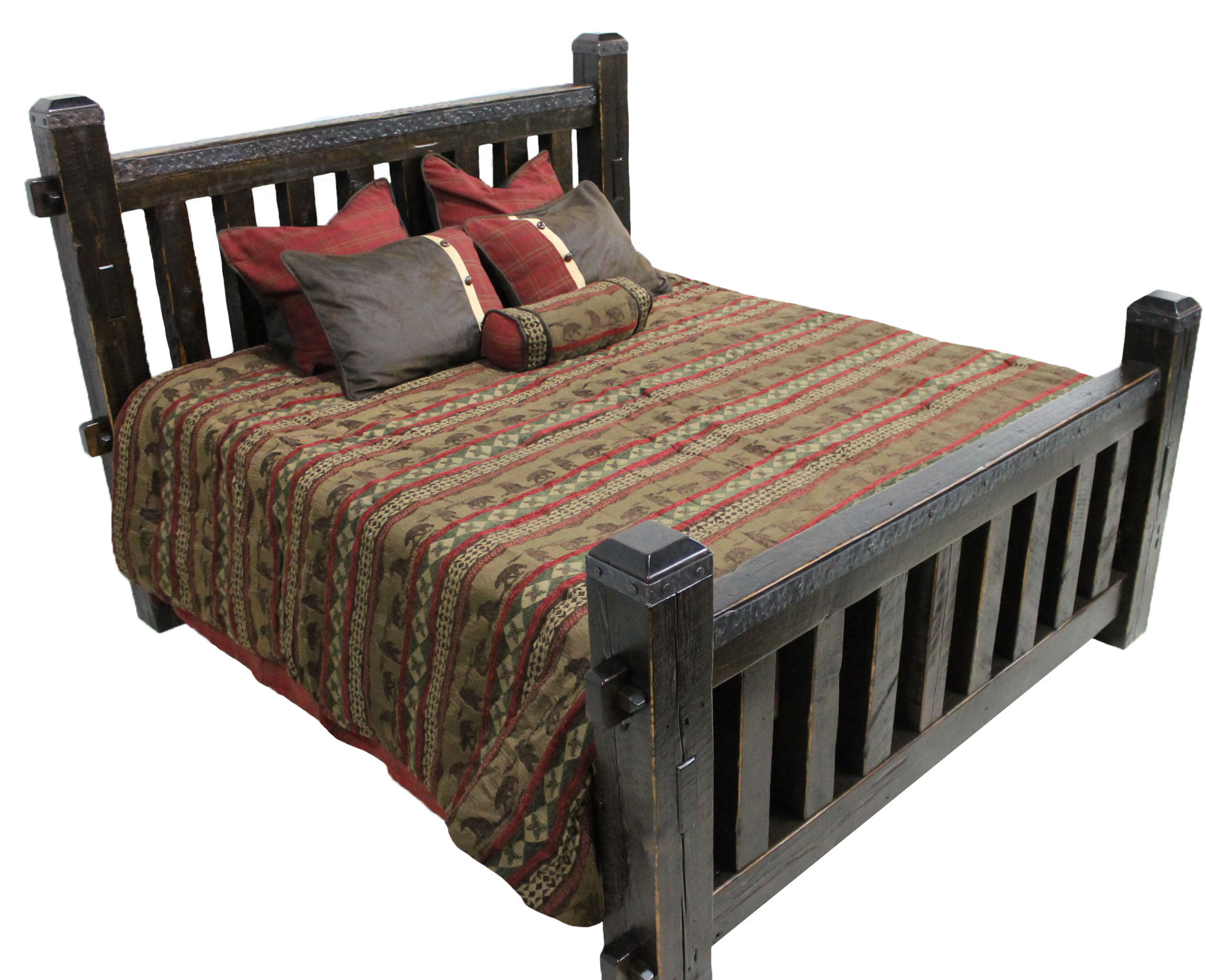 BED-CUSTOM ARMSTRONG IRON MOUNTAIN CUSTOM KING DARK STAINED.JPG