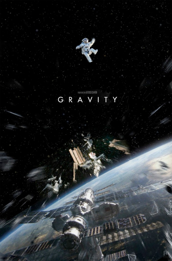 Gravity poster design by Framestore.
