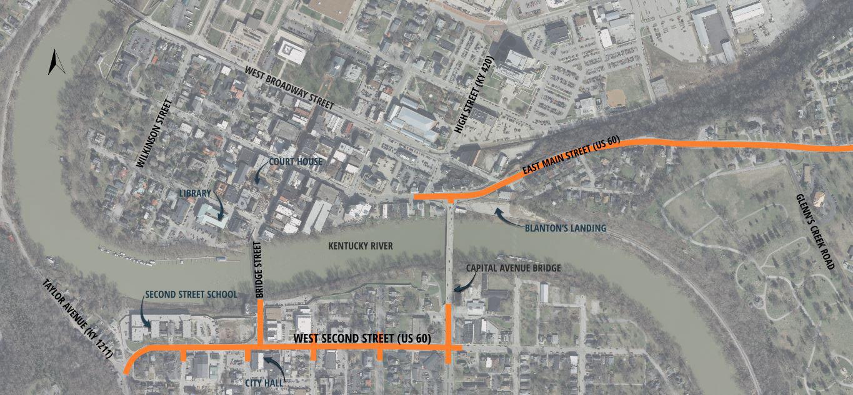 TIGER Grant Project Map