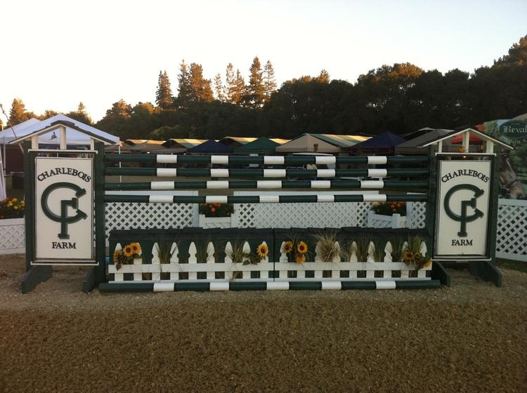 Charlebois Farm jump at Menlo Charity Horse Show