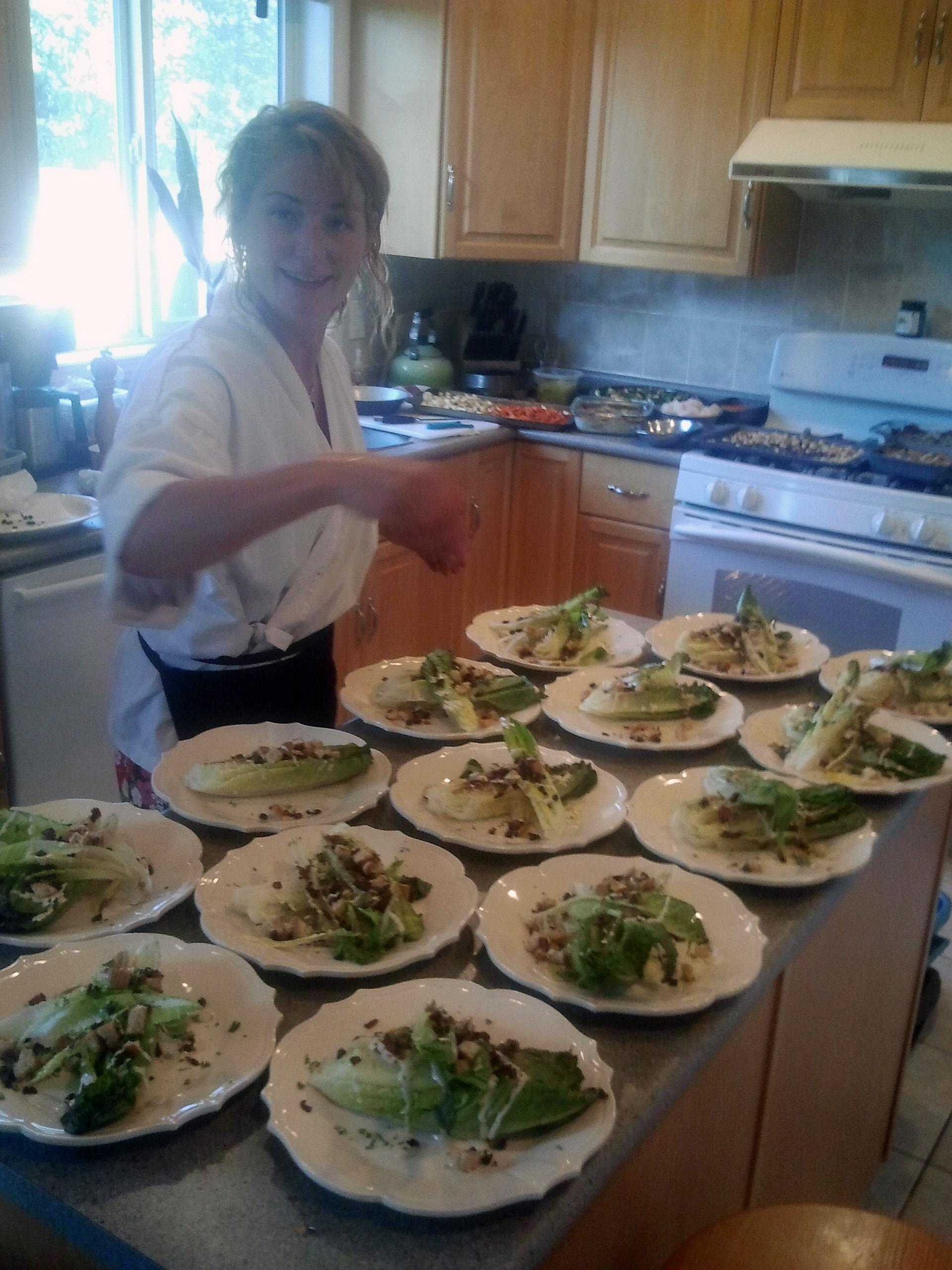 Grilled Caesar - Salad Before Serving