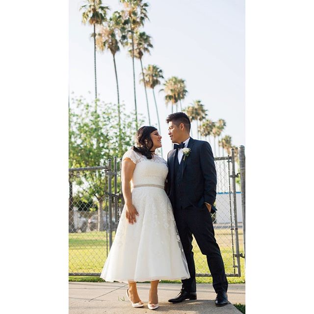 Happy Anniversary to my bae @mikedeseo. This photo represents our wedding that day. This was also the last photo of us before our reception. I wanted to capture the local, low-key vibe we were going for. It's one of my faves. ✨ Thank you @lilylovephoto 📷