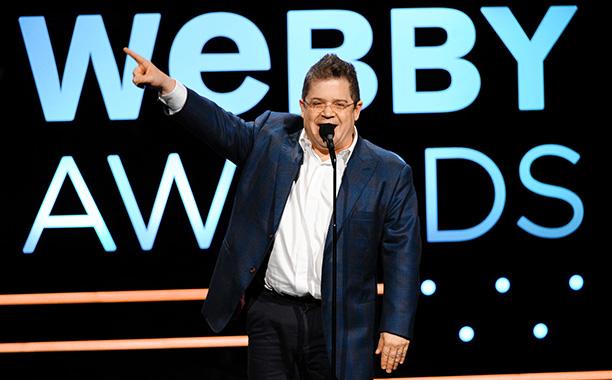 Patton Oswalt hosting the 2013 Webby Awards.