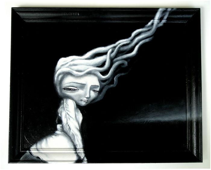 belle epoque, acrylic on wood panel, 26x33
